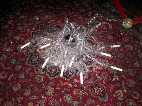 How To Keep Your Chandelier From Falling Out Of The