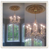 Small Chandelier for Dining Room with Medallion.