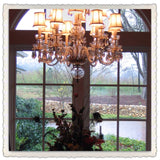 Dining Room Crystal Chandelier with shades.