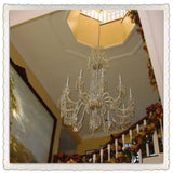 Crystal Chandelier in large stairwell