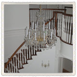 Crystal Chandelier Franklin in a Foyer