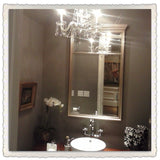 Little Crystal Chandelier 3-R-6 in a powder room
