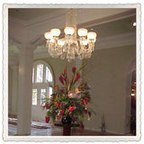 Crystal Chandelier Baron with gas shades