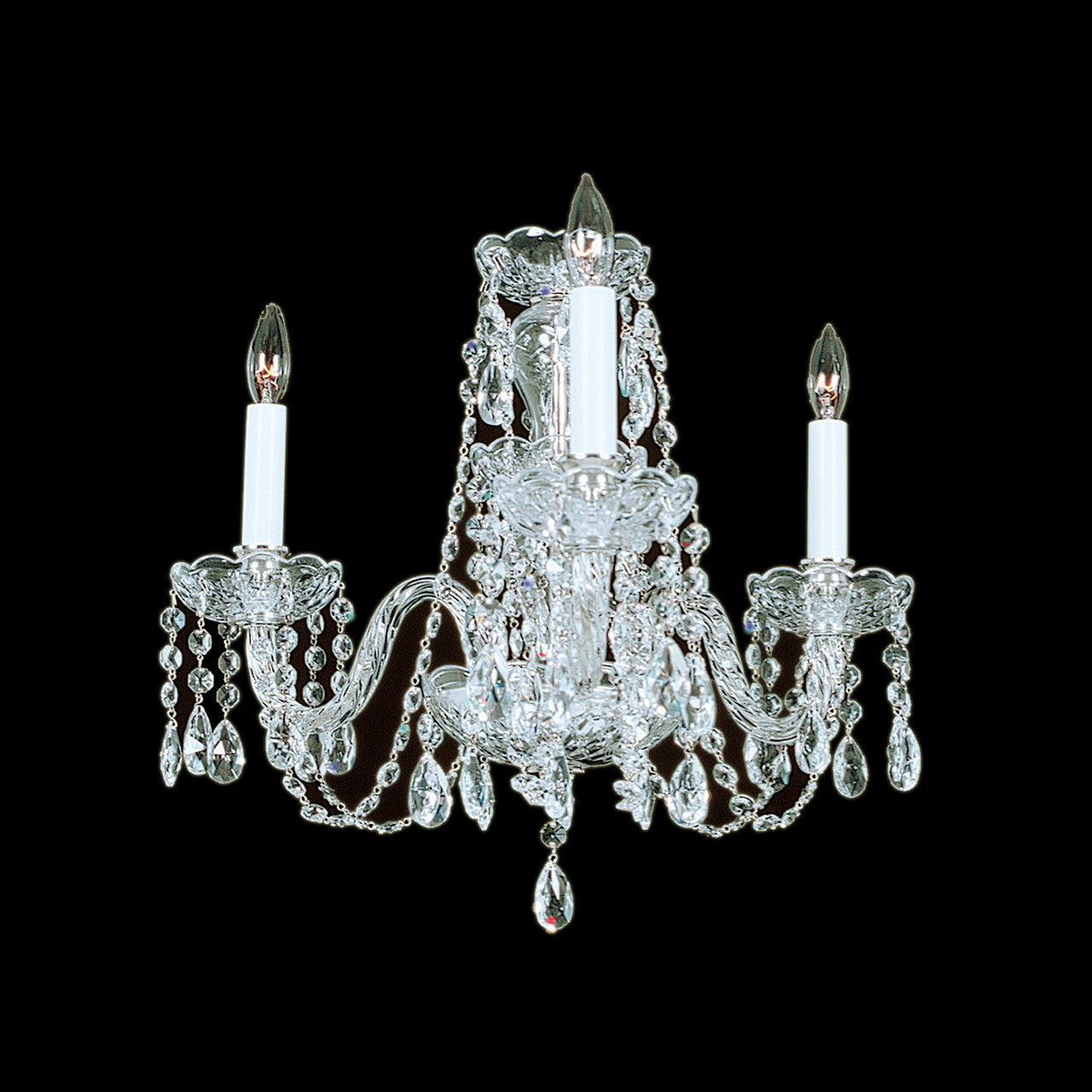 Swarovski Crystal Dollhouse Chandelier: 3 Light Crystal Chandelier With Swarovski