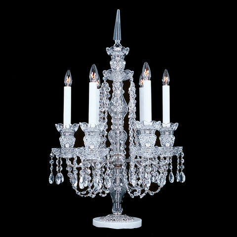 6CMB 6 light crystal candelabra