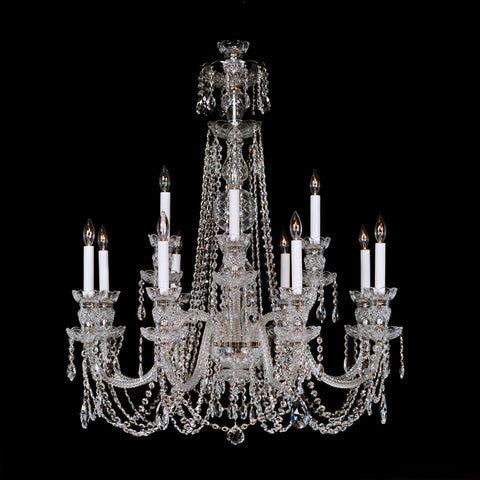 12 Light crystal chandelier 8+4 EXL