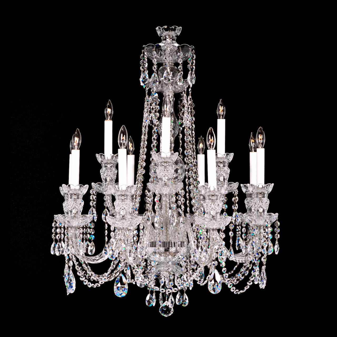 Crystal chandeliers and wall sconces direct free shipping 12 light crystal chandelier 84 medium with swarovski arubaitofo Images