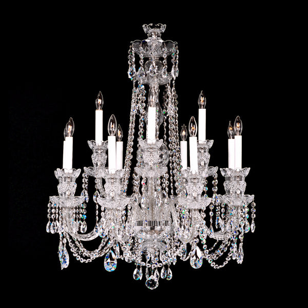 Swarovski Crystal Dollhouse Chandelier: Crystal Chandelier 8+4 Medium With Swarovski