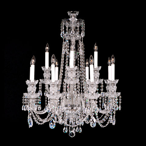 12 Light Crystal Chandelier 8+4 Medium with Swarovski