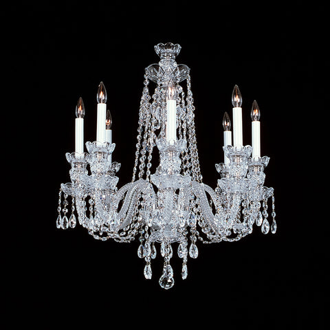 8 light Crystal Chandelier 8-R-8 with Swarovski