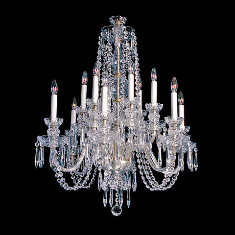 Crystal Chandelier Alexandria - 12 light chandelier with classic crystal.