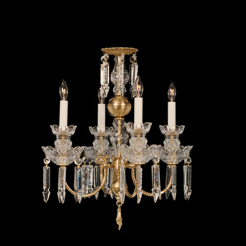 Brass and Crystal Chandelier Annie