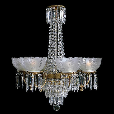 6 light Victorian Chandelier Charleston 6