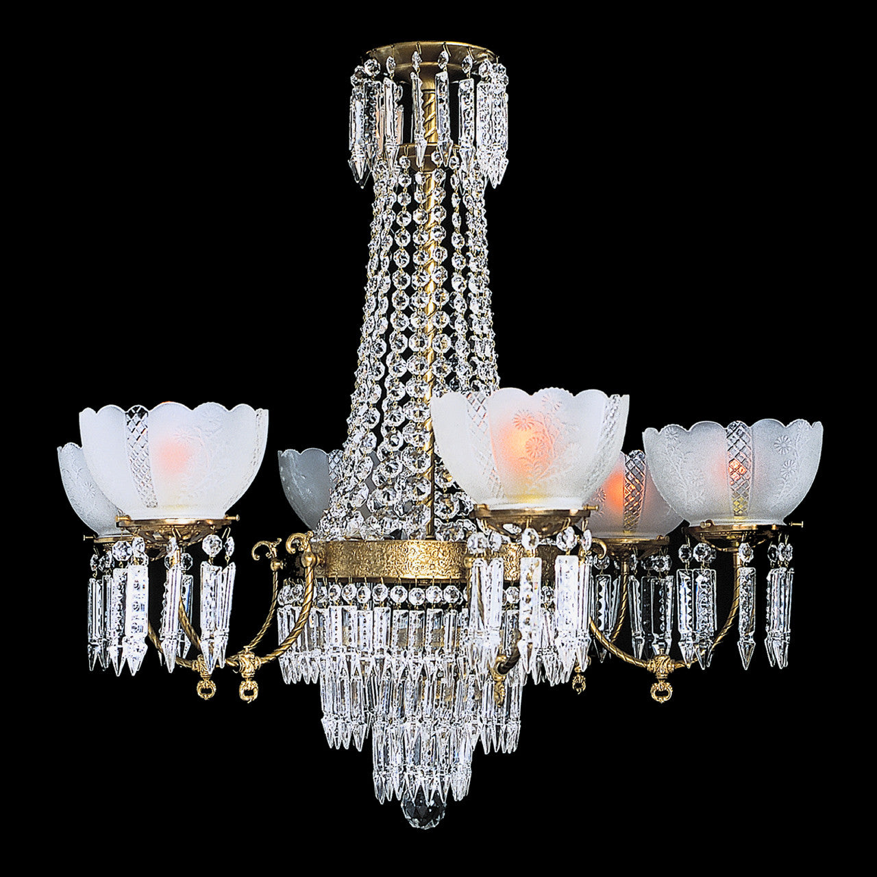 Charleston 6 6 light brass and crystal victorian chandelier 36 6 light victorian chandelier charleston 6 mozeypictures Image collections