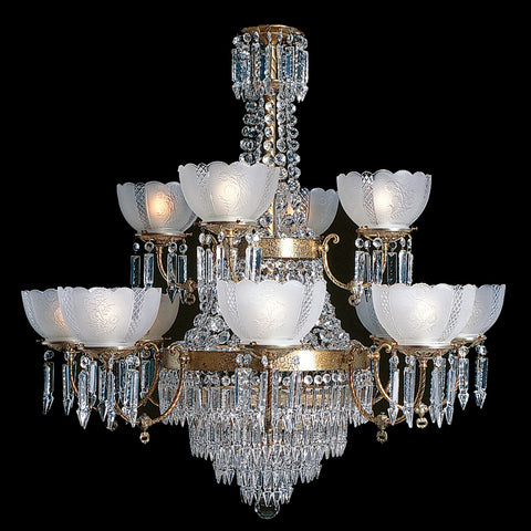 12 light, large Victorian Chandelier Charleston 8+4