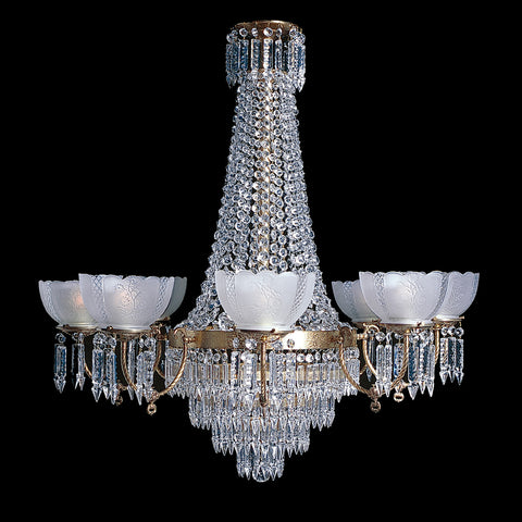 Crystal chandeliers tagged all victorian chandeliers kings charleston 8 8 light brass and crystal victorian chandelier 38 x 42 aloadofball Images