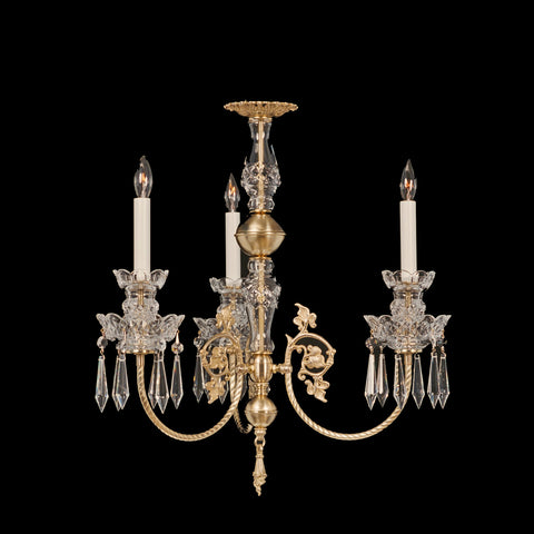 Brass and Crystal Chandelier Chelsea