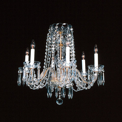 6 light short Duke Crystal Chandelier