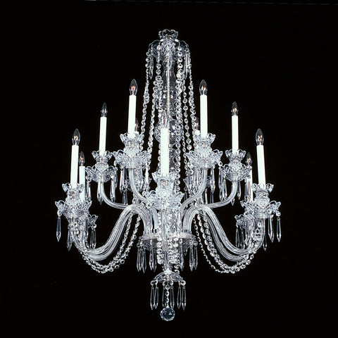 12 light crystal chandelier Empress.