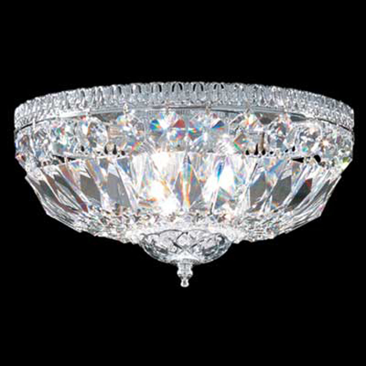 Europa 12 Flush Mount Crystal Basket X 6