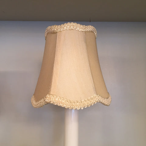 Ecru clip on shade for chandelier