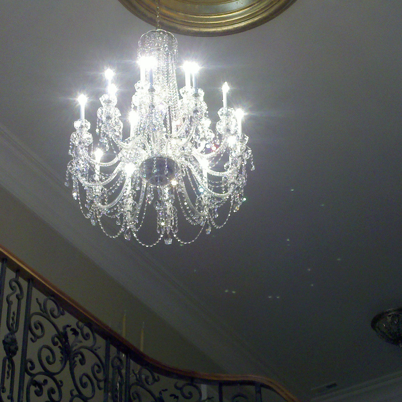 King 18 light crystal chandelier with swarovski 32 x 45 crystal chandelier king with swarovski king in foyer arubaitofo Images