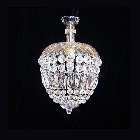 Mary Beth crystal basket chandelier.