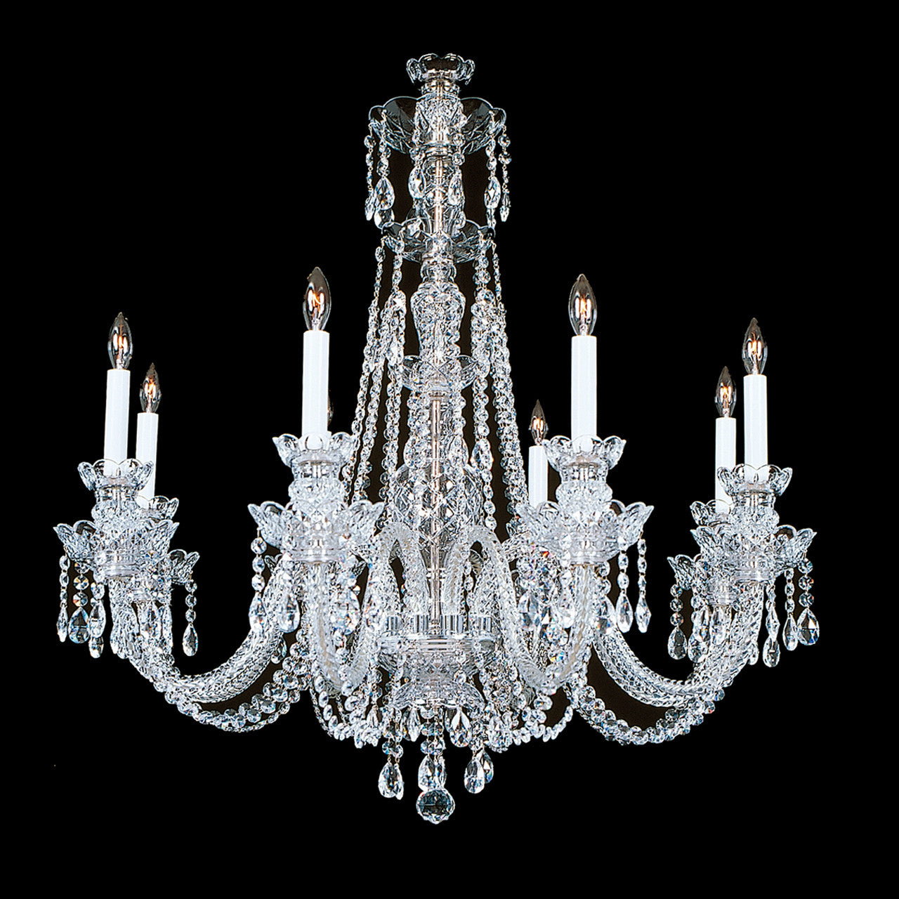 Philadelphia 8 Light Crystal Chandelier With Swarovski 32 X 32 King S Chandelier Co
