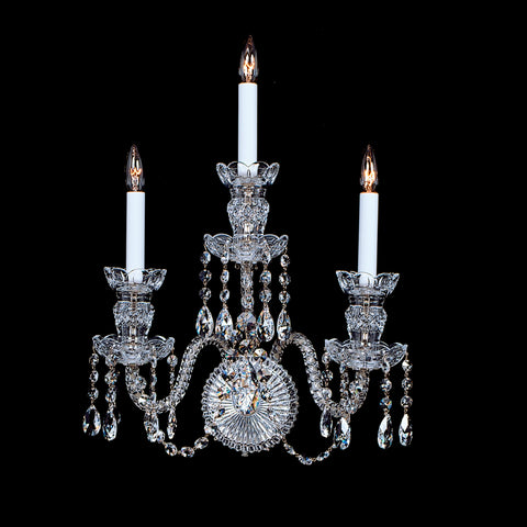 Sconce 3-F-6 - 3 Light Crystal Sconce with Swarovski