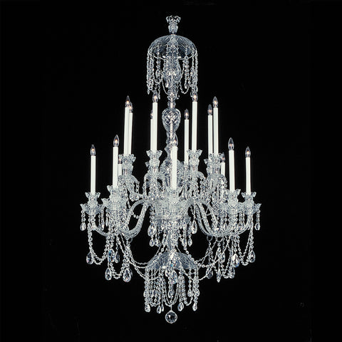 Crystal Chandelier Winter Elegance