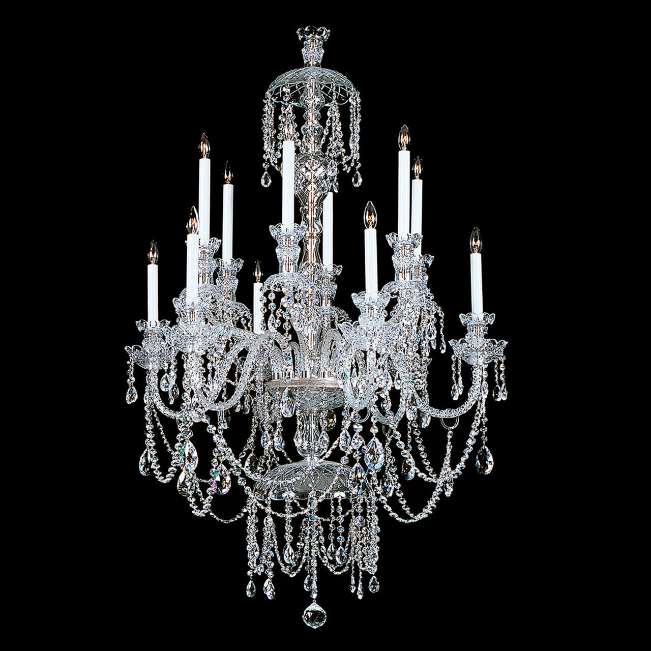 Winterking 12 light crystal chandelier with swarovski 32 x 52 crystal chandelier winterking with swarovski arubaitofo Images