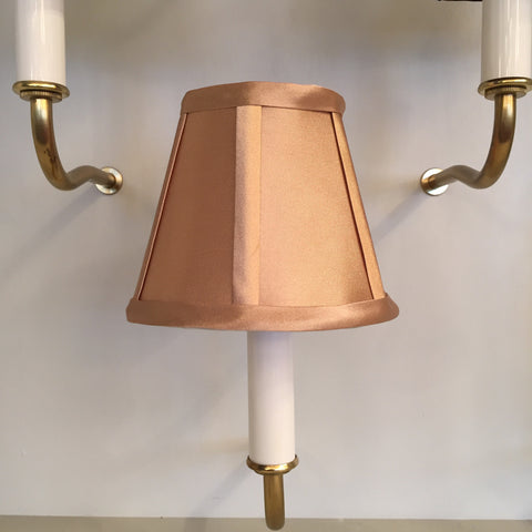 Gold, Clip-On Candelabra Shade