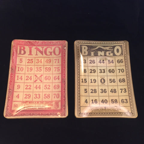 "Bingo ""Stuff"" Tray - Glass Vintage Look"