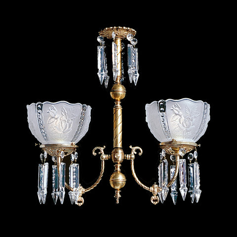Victorian reproduction 2 light Jenny Chandelier