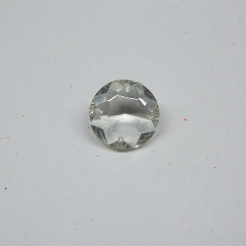 30mm, 4 hole Crystal Jewel