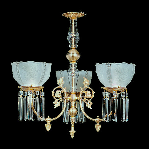 Crystal chandeliers tagged all victorian chandeliers kings oliver 3 light brass and crystal victorian chandelier 25 x 23 aloadofball Images