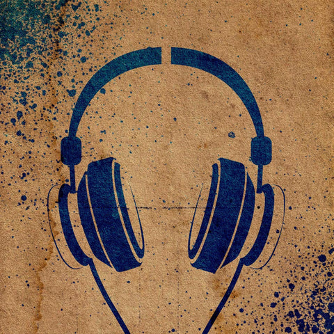 Headphones Stencil
