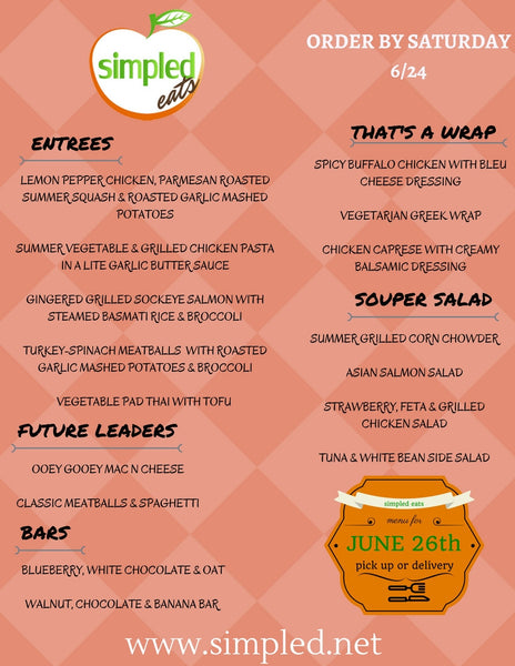 June 26th Menu
