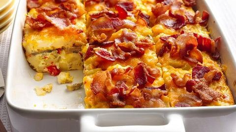 Applewood Smoked Bacon & Cheddar Egg Bake