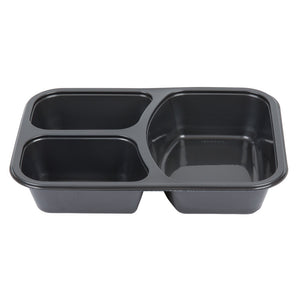 """Microwavable & Ovenable"" Three Compartment BPA Free Container"