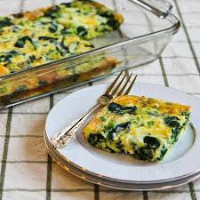 Spinach & Asiago Egg Bake