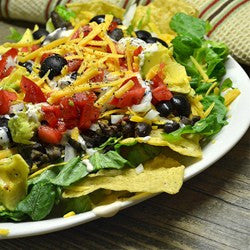 Beef & Bean Taco Salad With Cilantro-Lime Vinaigrette