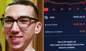 Apparent Suicide By 20-Year-Old Robinhood Trader Who Saw A Negative $730,000