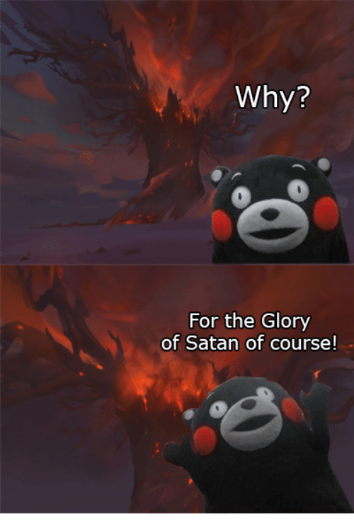 Let's Give Glory And Honor To Satan?
