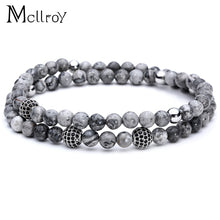 Mcllroy Beaded Bracelets mens Lion Charms Bracelets woman Natural stone Bracelets Man jewelry bracelet Female bileklik valentine