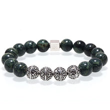 Mcllroy beaded bracelets men natural stone beads thai silver bracelets bangles 3 color jewelry charms men valentines day gift
