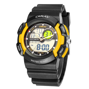 Dual Display Watches Waterproof Sport Digital Watch Men Watch