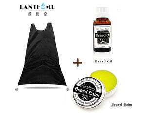 Hot men's facial beard nourishing liquid beard apron combination set Beard balm beard oil