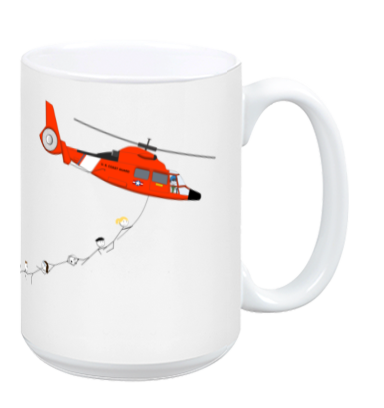 Coast Guard Helicopter Mug