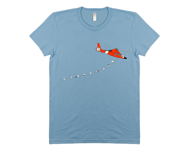 Coast Guard Helicopter Rescue T-Shirt